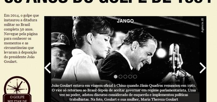 Primeiro especial da Folha sobre os 50 anos do golpe de 1964